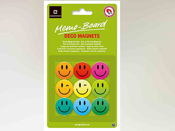 Magneţi decorativi Smiley, Eurographics, multicolor, set 9 bucăți