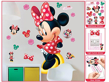 Mega Sticker Disney Minnie Mouse, Walltastic, 120 cm înălţime