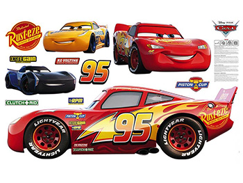 Mega Sticker Disney Cars, Komar, set cu 11 stickere