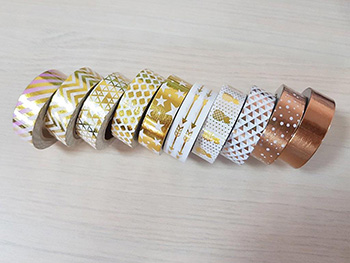 Set 10 Washi Tape Gold design