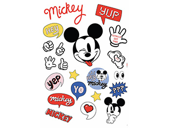 Set 21 stickere Mickey Mouse, Komar, It's a Mickey Thing