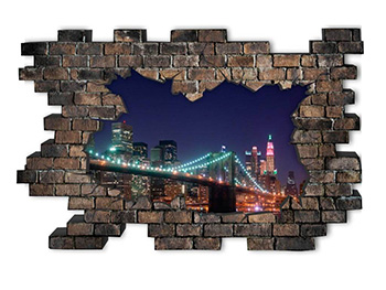 Sticker 3D City Lights