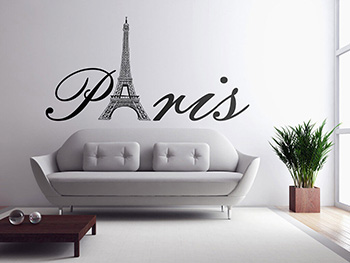 Sticker Paris, Folina, decorațiune pentru perete, dimenisune sticker 95x180 cm