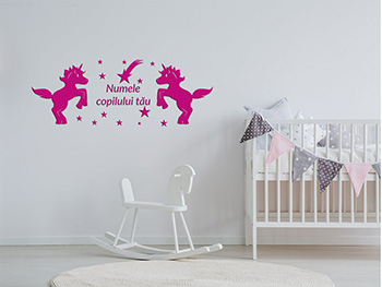 Sticker copii Unicorni roz