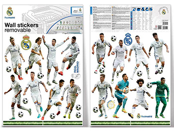 Sticker 16 fotbalişti Real Madrid, Imagicom, autoadeziv