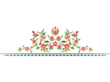 Sticker perete decor floral Becky