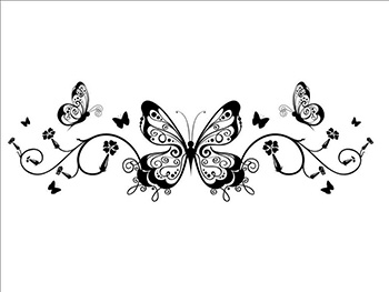 Sticker decor Fluture negru
