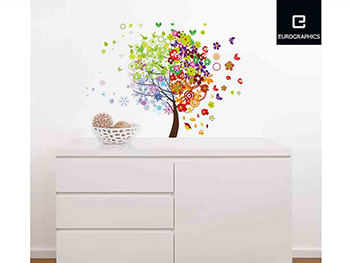 Sticker decorativ Copac 4 anotimpuri