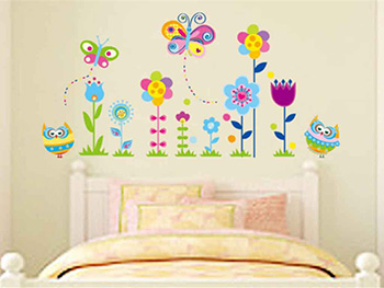Sticker decorativ Flori colorate
