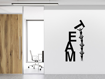 Sticker decorativ Team