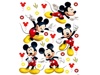 Set 5 Stickere Mickey Mouse, AG Design, planşă de 65x85 cm