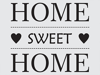 Sticker perete negru Home swet Home