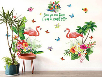 Sticker perete Decor Tropical