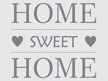 Sticker perete gri Home swet Home