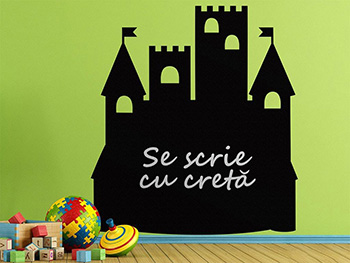 Sticker tablă de scris Castel