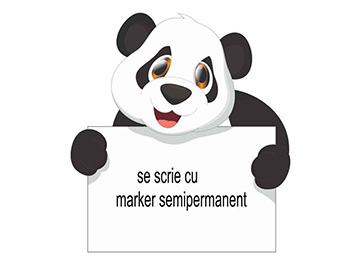 Sticker whiteboard Panda, Folina, tablă de scris, multicolor