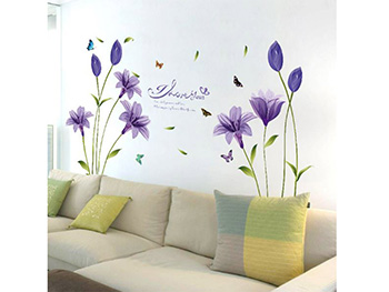 Stickere flori, Folina, decor mov