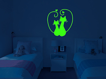 Sticker fosforescente Pisici, Folina, Glow in the dark
