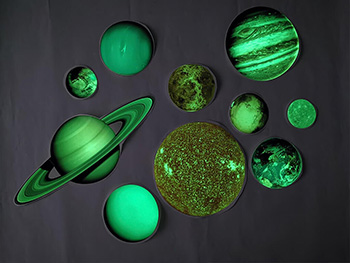 Stickere fosforescente Planete, Folina, glow in the dark - set 10 stickere