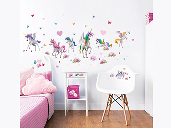 Set 71 stickere Magical Unicorn, Walltastic, multicolor