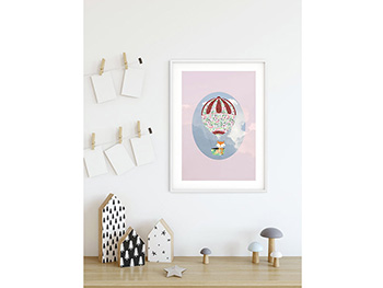 Tablou Happy Balloon Pink - 30x40 cm
