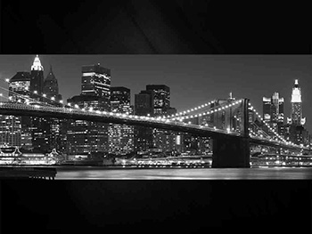 Tablou New York Skyline, Eurographics, aspect lucios, 125 x 50 cm