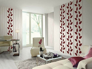 Tapet floral Burgundy Easy Wall