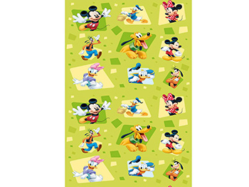 Tapet verde Mickey Mouse and Friends