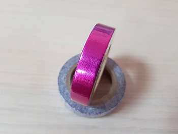 Washi tape roz metalic